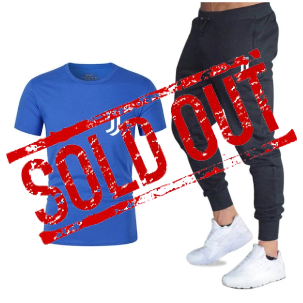 Fashion Summer - Men's Sets T Shirts+pants, Two Pieces - Set Casual Tracksuit Male - Fitness, various combinations of colors and patterns