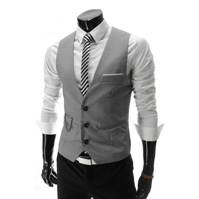 Men's Waistcoat Classic - Slim Fit Wedding Party