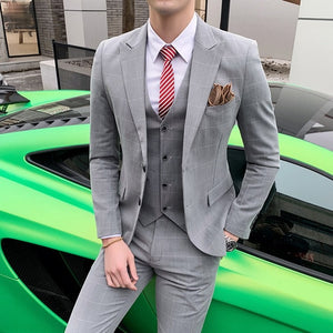 Men Fashion Style - Luxury and Wedding Formal Businessmen's Work Suit Slim Fit Suits
