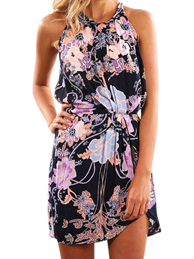 2019 Summer Dress New Model Sleeveless Sexy Beach Women's Clothing