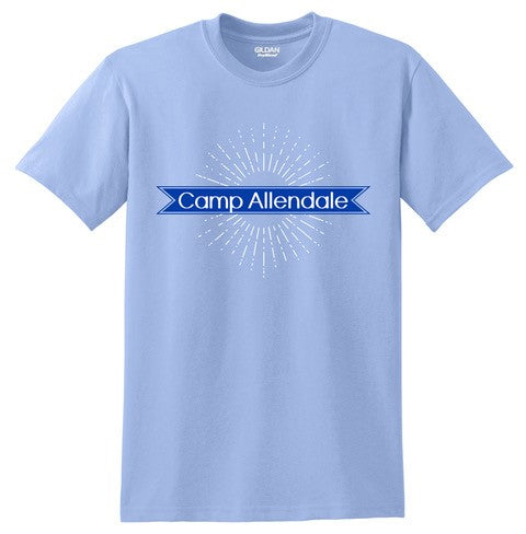 CA100 - CAROLINA BLUE BURST TEE