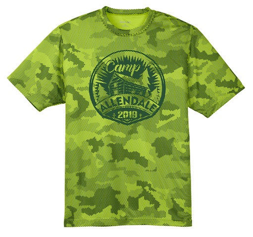 CA100 - GREEN CAMO HEX TEE