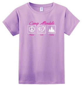 CA100 - PEACE LOVE CAMP LADIES TEE SHIRT