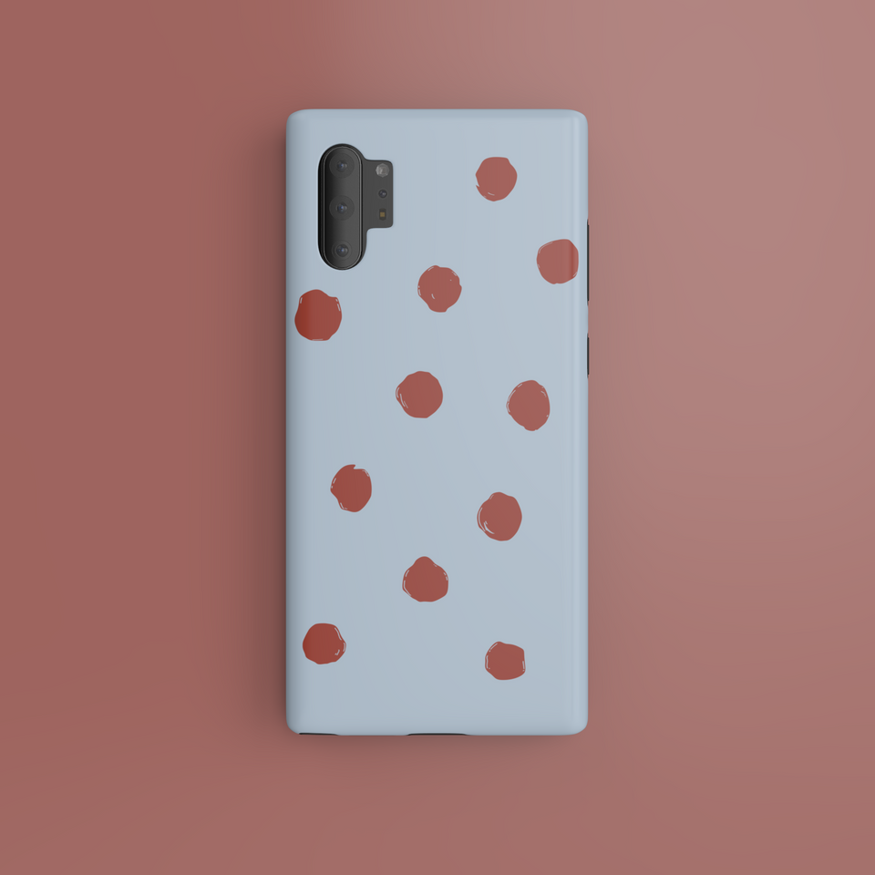 Red Dots On Blue