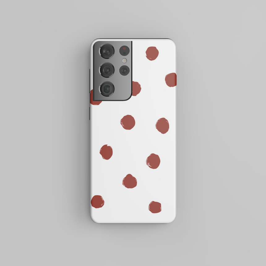 Red Dots On White