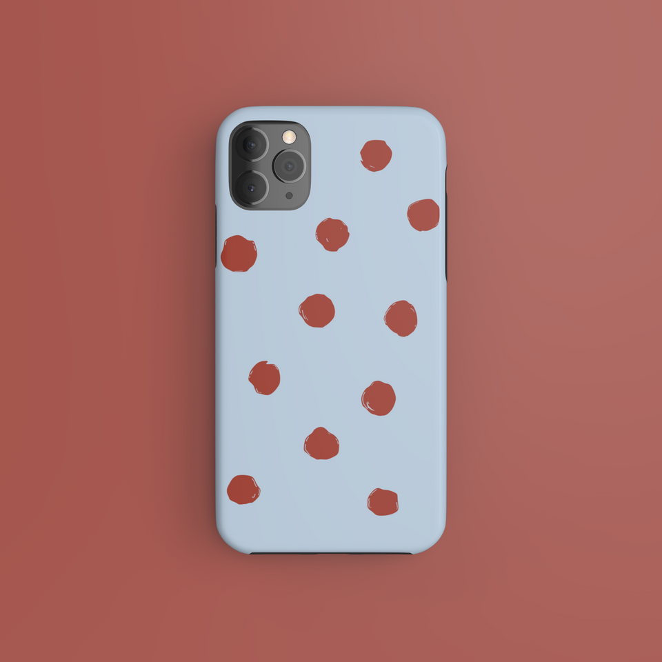 Red Dots On Blue - CaseIsMyLife