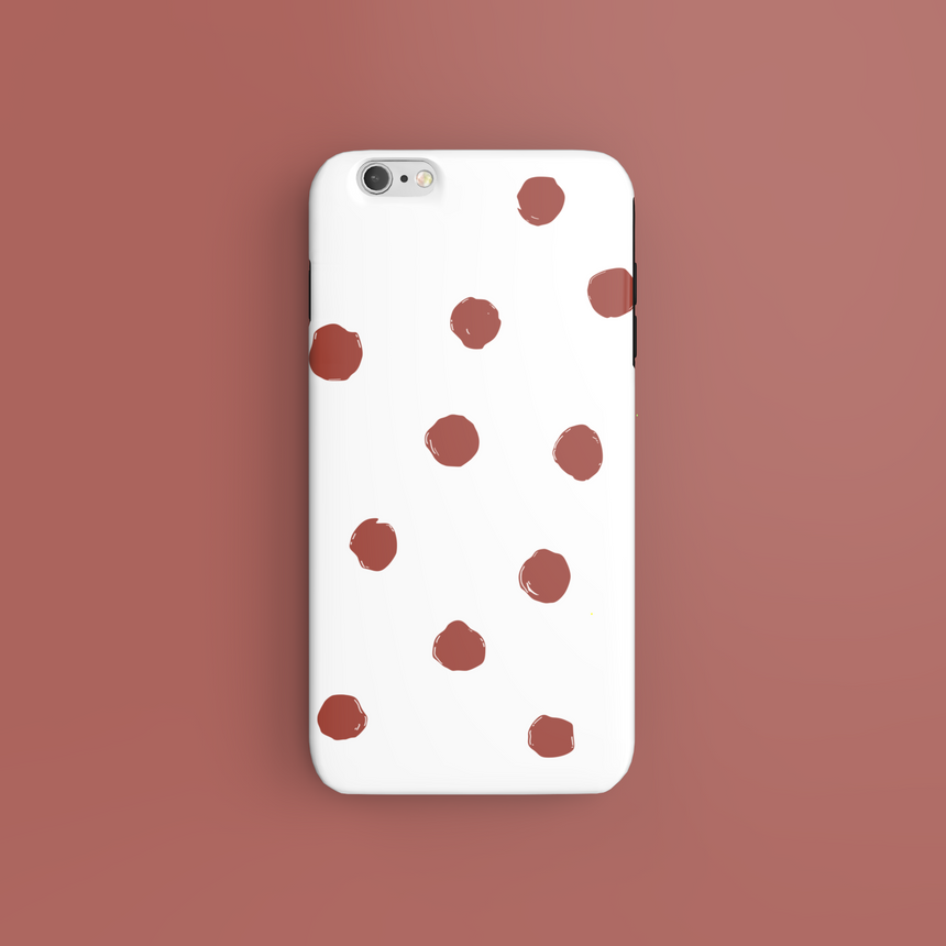 Red Dots On White - CaseIsMyLife