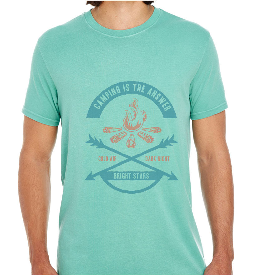 Camping Is The Answer-ECO Tshirts.com