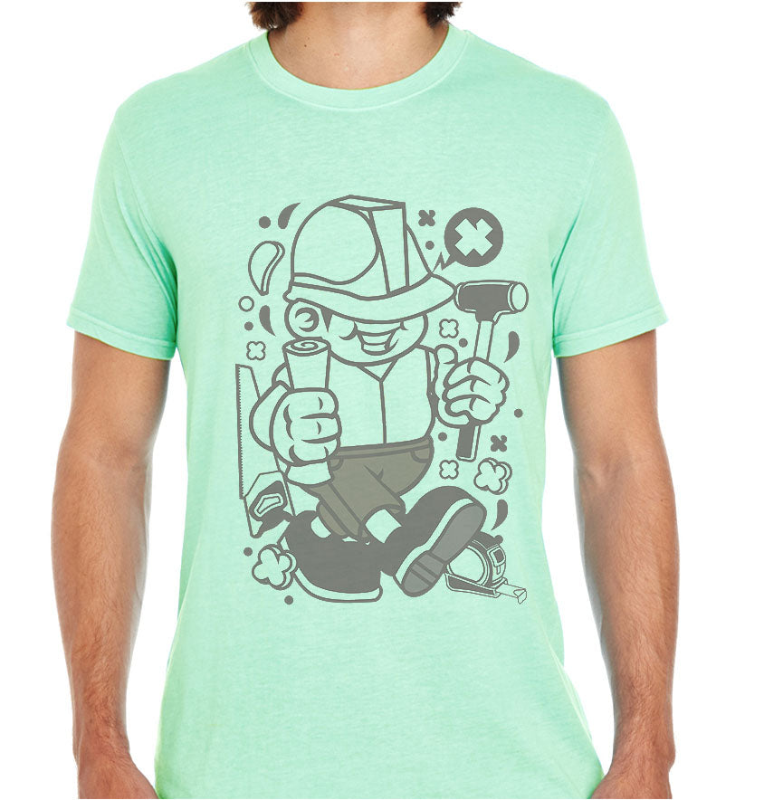 Construction Worker-ECO Tshirts.com