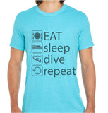 Eat Sleep Dive-ECO Tshirts.com