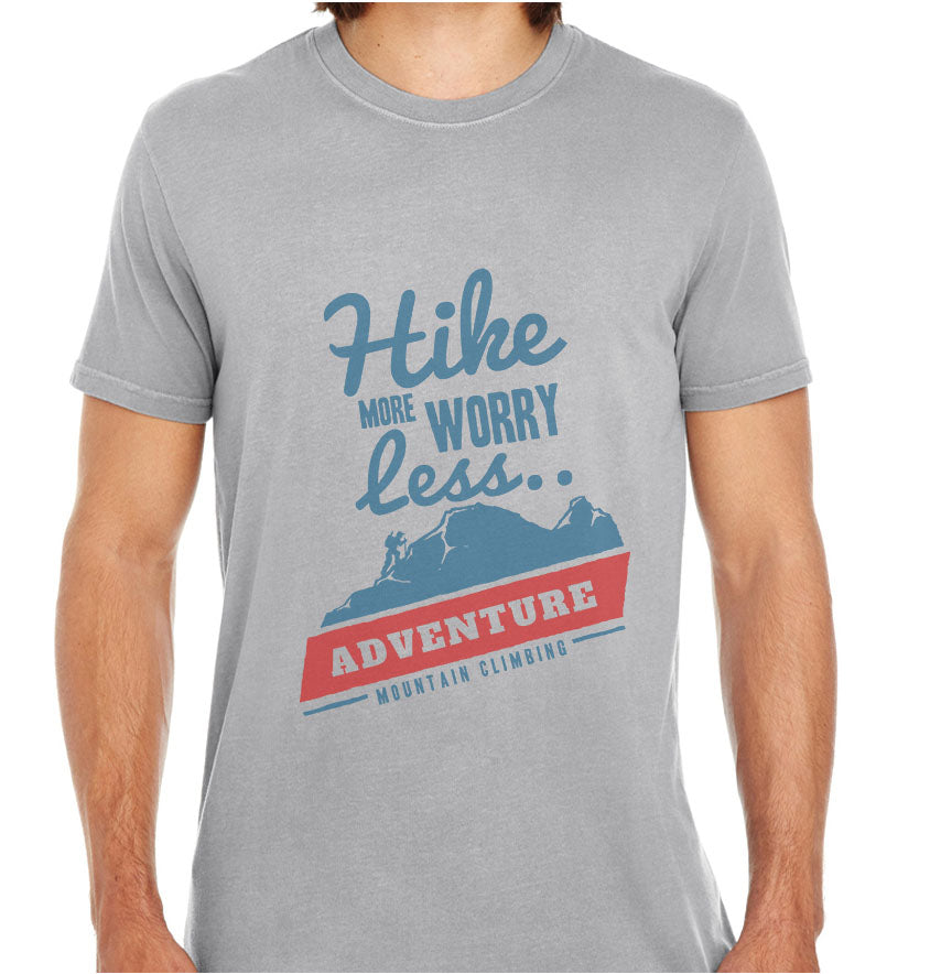 Hike More Worry Less-ECO Tshirts.com