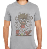 Hipster Tennis player-ECO Tshirts.com