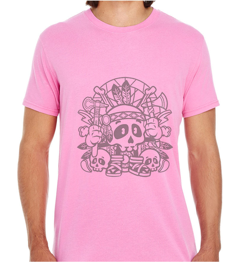 Indian Skull-ECO Tshirts.com