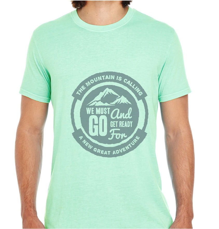 The Mountain Is Calling-ECO Tshirts.com