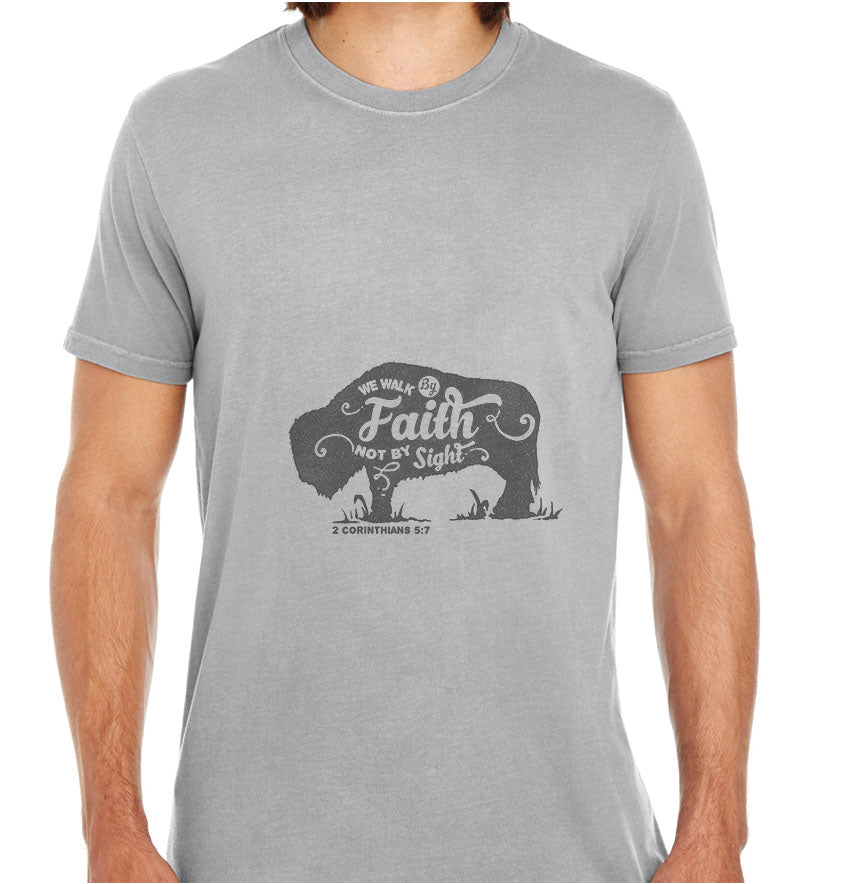 We Walk By Faith-ECO Tshirts.com