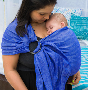 electric + smoke  |  ring sling baby carrier