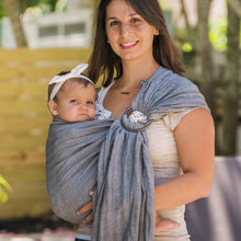graphite + smoke grey  |  ring sling baby carrier