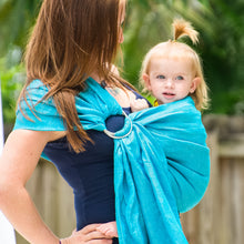 ocean + silver  |  ring sling baby carrier