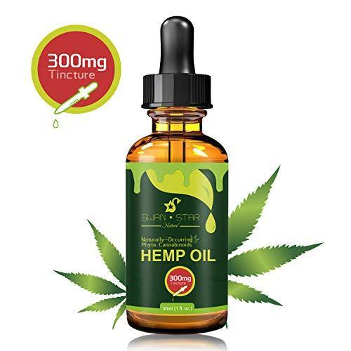 Hemp Oil for Pain Relief, Relieve Inflammation, Stress Support, Anti Anxiety, 100% Pure Organic Hemp Extract Oil (300mg)