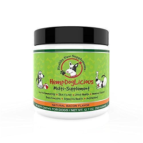 HempDogLicious Dog Joint Supplement Chews - Bacon Flavor Dog Joint Supplement Organic for Hip, Joint, Arthritis Pain, Skin, Coat and More, 90 Chews