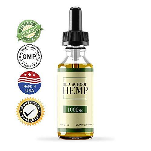 Hemp Oil Extract for Pain, Anxiety & Stress Relief - 1000mg - Double Advantage - Grown & Made in USA - Anti-Inflammatory and Joint Support - 100% Natural Hemp Drops - Sans CBD