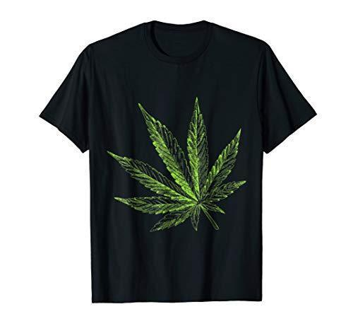 Weed Leaf Shirt Marijuana Cannabis Hemp CBD Cannabidiol Oil