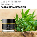 Hemp Pain Cream Salve - 250mg Full Spectrum Hemp Extract - Fast Muscle and Joint Pain Relief. 2oz