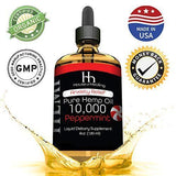 Hemp Oil for Pain Anxiety Relief :: Hemp 10,000 :: Natural Organic Hemp Seed Full Spectrum Extract, Anti Inflammatory, Joint & Sleep Support - Zero THC CBD Cannabidiol :: Rich in Omega 3,6,9