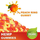 Premium Full Spectrum Hemp Extract Peach Ring Gummies - for Pain Relief and Anti-Anxiety Support - 500MG Total, 25MG Each - All-Natural Ingredients- Promotes Relaxation & General Good Health
