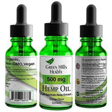Hemp Oil 500MG Full Spectrum Premium Hemp Oil for Pain Anxiety, Stress and Inflammation. Aides Mood Sleep Skin & Hair. Organic Vegan Non-GMO Orange Flavor 1 Fl Oz Low Intro Price