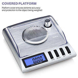 Smart Weigh High Precision Digital Milligram Jewelry Scale, 20 x 0.001g, Calibration Weights and Tweezers Included.