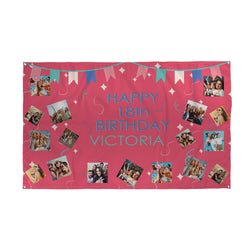 Personalised 18th Birthday Banner
