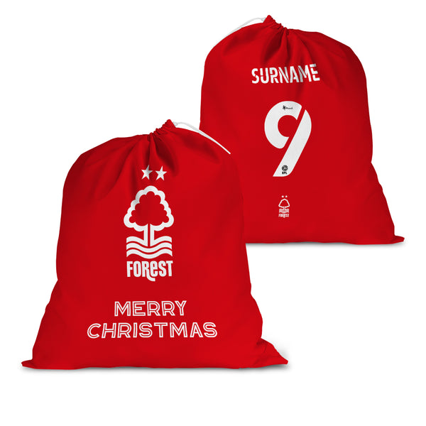 Nottingham Forest FC Back of Shirt Santa Sack