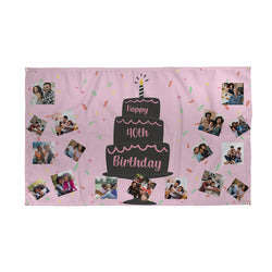 Personalised 40th Birthday Banner