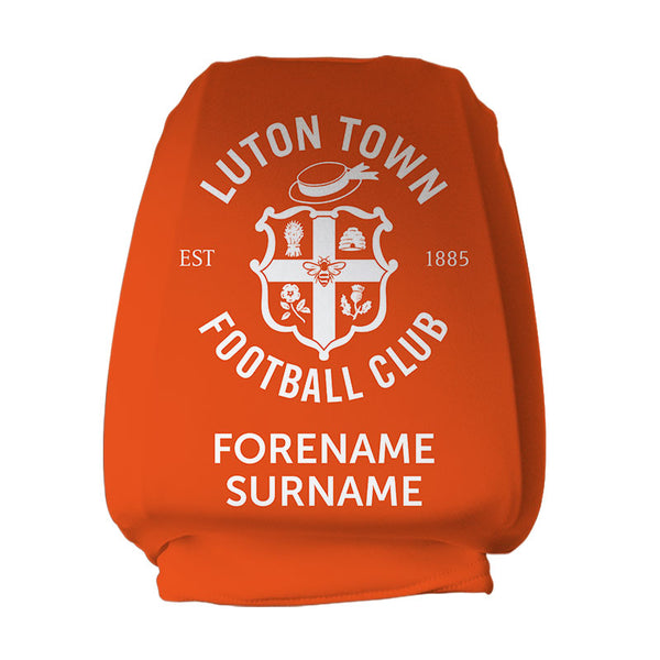 Luton Town FC Mono Personalised Headrest Covers