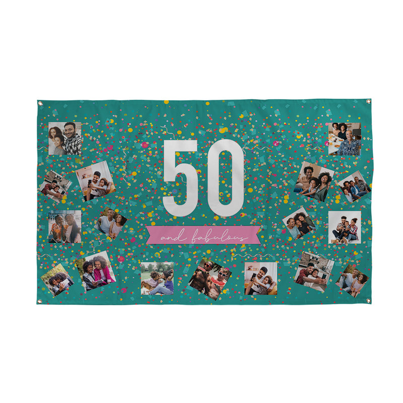 Personalised 50th Birthday Banner