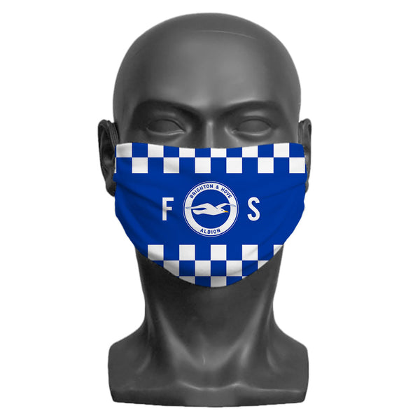 Brighton & Hove Albion FC Initials Adult Face Mask