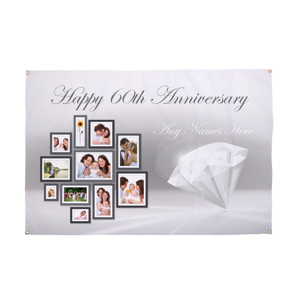 Diamond Anniversary Banner - 3ft x 2ft