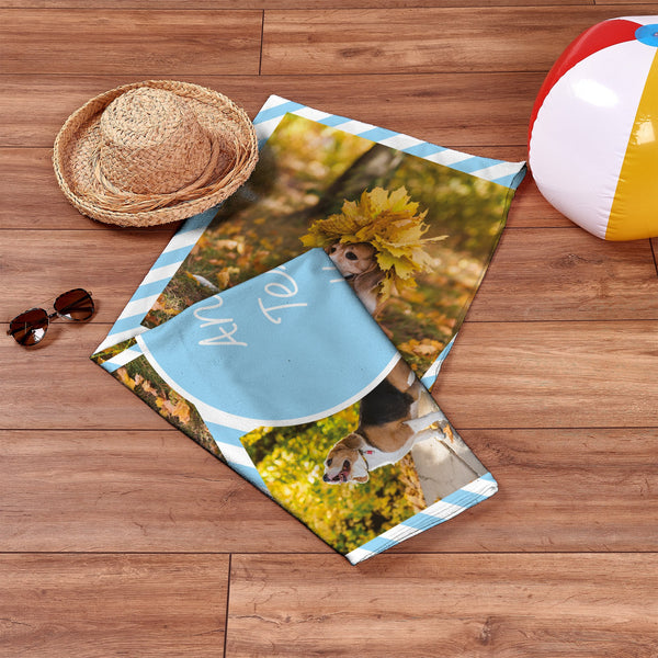 Personalised Photo Beach Towel