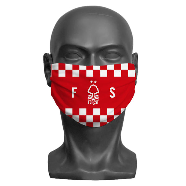 Nottingham Forest FC Initials Adult Face Mask