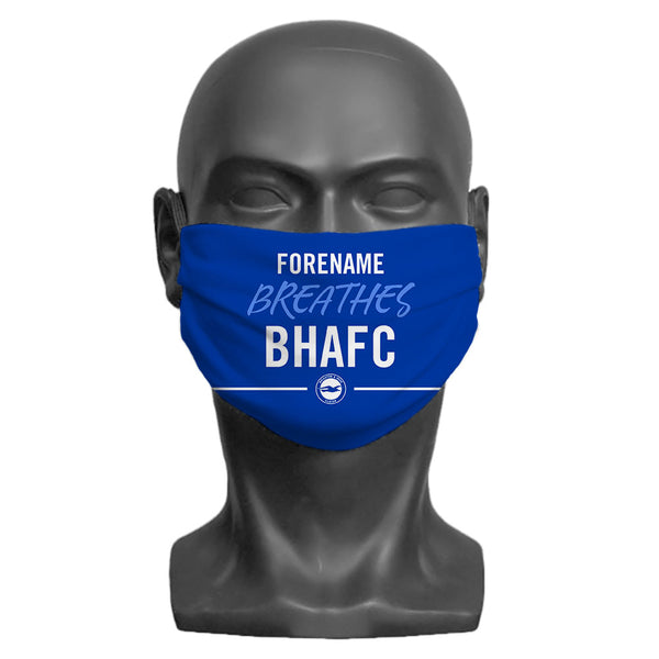 Brighton & Hove Albion FC Breathes Adult Face Mask