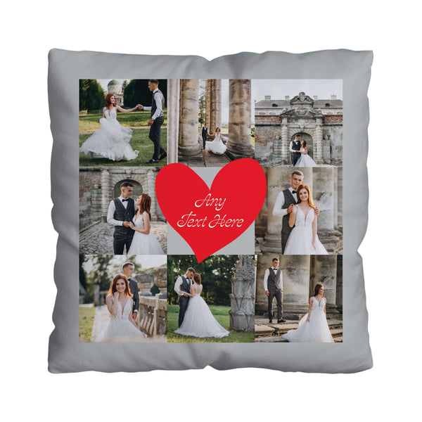 8 Photo Red Heart - 45cm Cushion