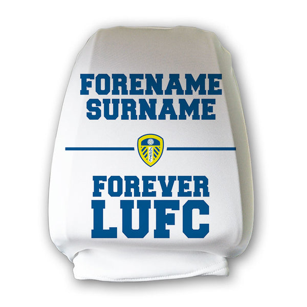 Leeds United FC Forever Personalised Headrest Cover