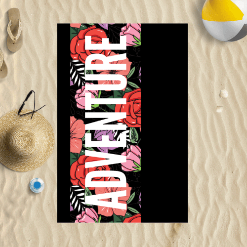 Personalised Beach Towel | Large Custom Towel