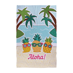 Personalised Beach Towel - Pineapple Aloha