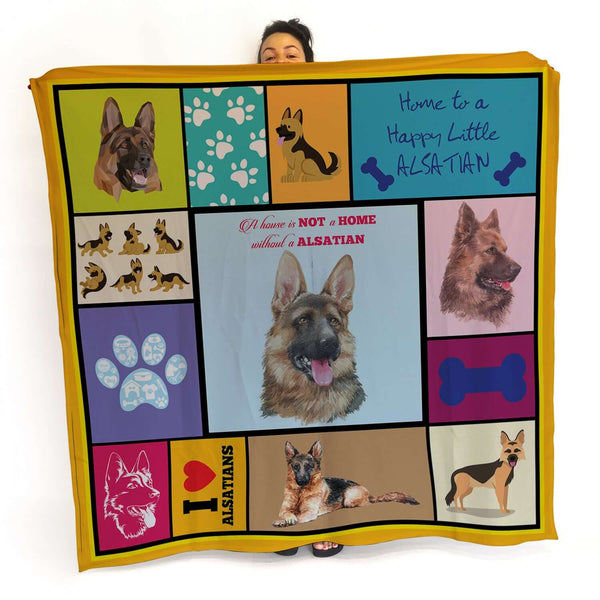 Alsatian - Colourful Pet Blanket