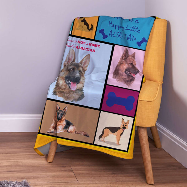 Alsatian Dog Blanket | Warm Custom Pet Blanket