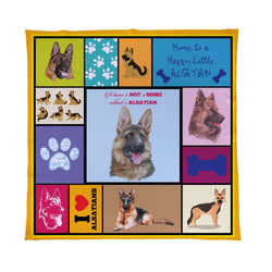 Alsatian Dog Blanket| Personalised Pet Blanket