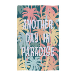 Personalised Beach Towel - Another Day in Paradise