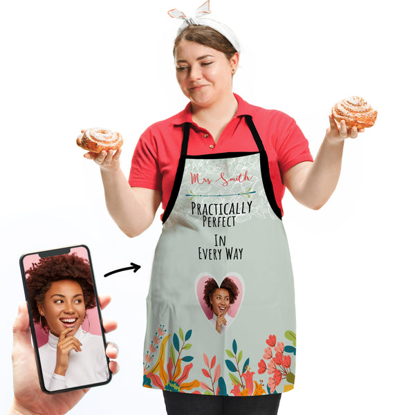 Mr or Mrs Practically Perfect - Personalised Adults Apron